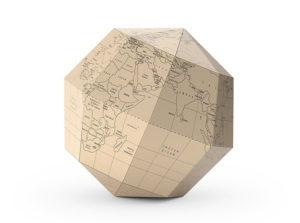 Decorative Paper Globe Maps 3D Model