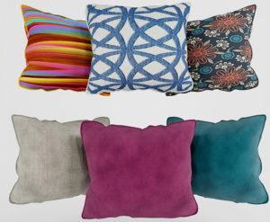 Decorative Pillows Set 3D Model