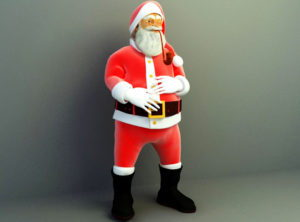 Decorative Santa Claus 3D Model