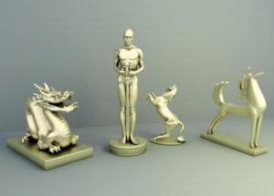 Decorative Sculptures 3D Model