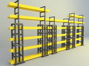 Moduler Decorative Shelves Free 3D Model