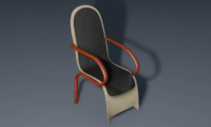 Decorative Wood Chair 3D Model