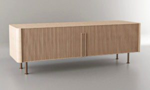 Decorative Wood Sideboard 3D Model