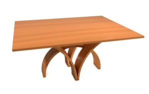 Decorative Wooden Dinning Table 3D Model