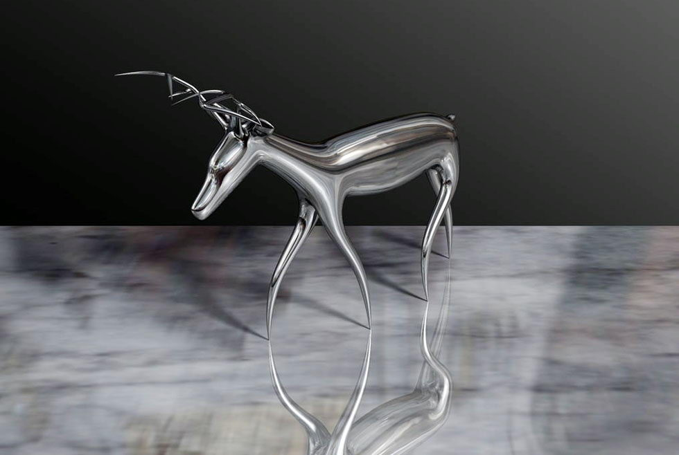 Deer Sculpture 3D Model