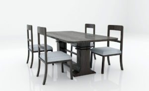 Dining Room Table Set 3D Model