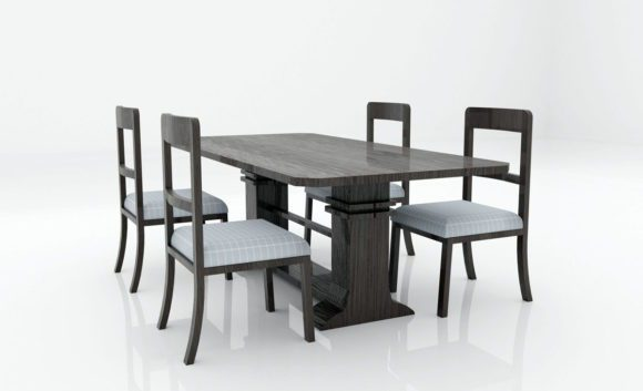 Dining Room Table Set 3D Model