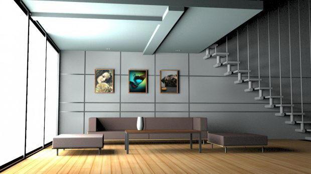 Dinnig Room Interior 3D Model