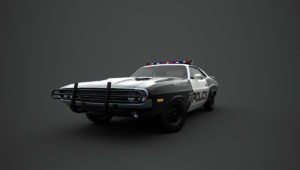 Dodge Challenger Police Car 3D Model
