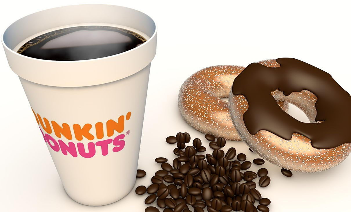 Donuts With Coffe 3D Model