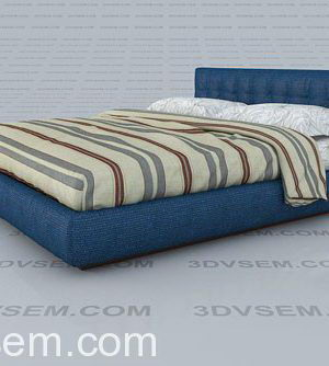 Double Bed Free 3D Model