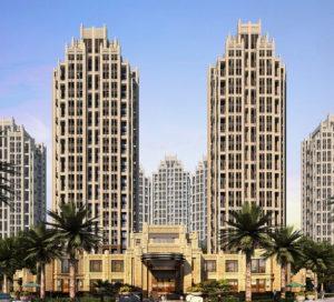 Double Hotel Building Exterior 3D Model