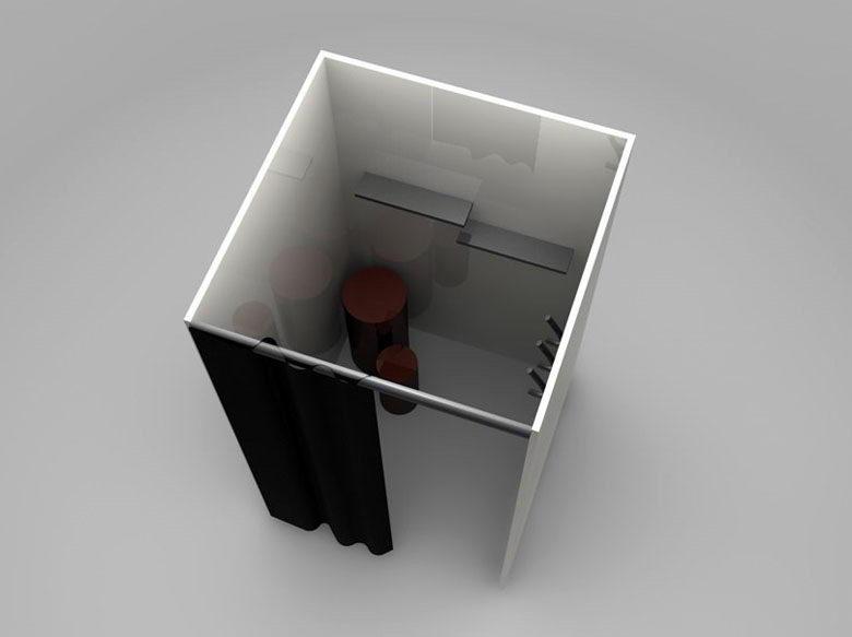 Dressing room scene 3d model