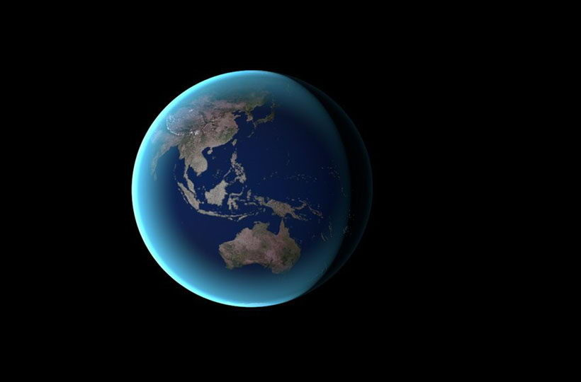 Earth in Space 3D Model