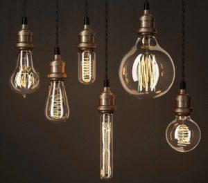 Edison Style Lamps 3D Model