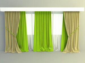 Elegant Curtains 3D Model