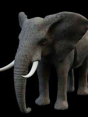 Elephant Figurine 3D Model