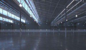 Empty Warehouse 3D Interior Scene