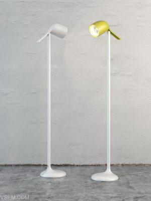 Fabric Design Floor Lamp 3D Model