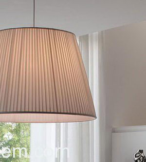 Fabric Pleated Ceiling Light 3D Model