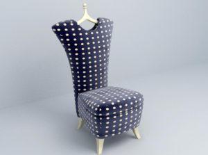 Fashion Design Chair 3D Model