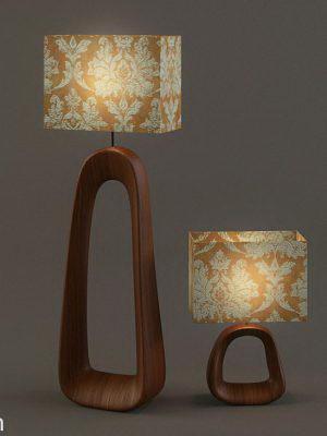 Figured Base Table Light 3D Model