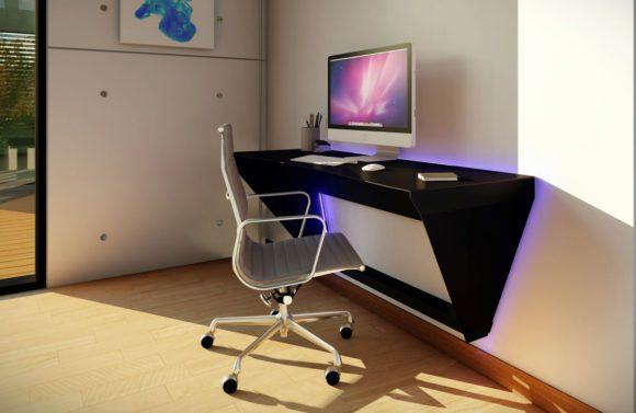 Float Metal Desk 3D Model