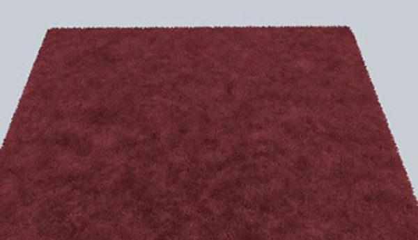 Fluffy Carpet 3D Model