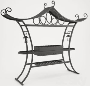 Forged Brazier Free 3D Model