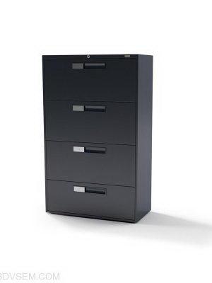 Four-Door Office Cabinet 3D Model