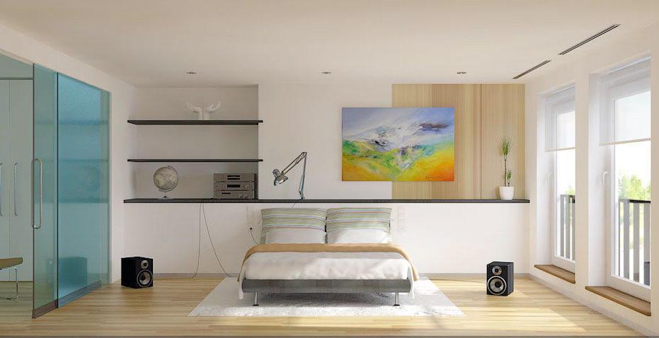 Free 3D Bed Room Interior Scene