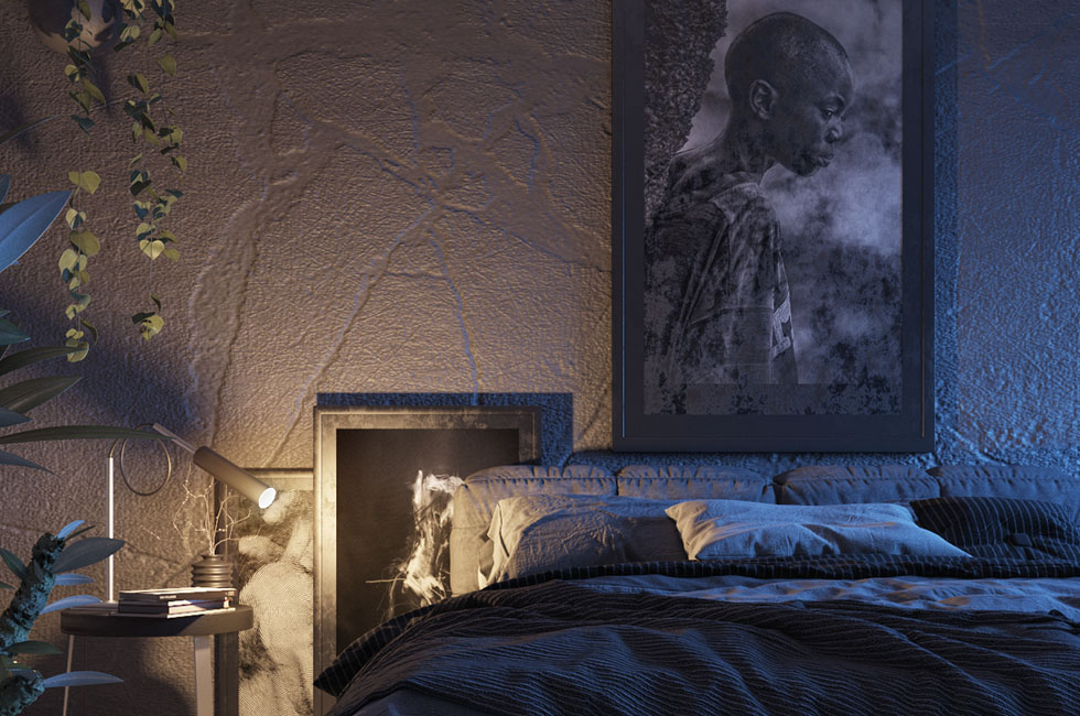 Free 3d Day And Night Light Bedroom Scene Free C4d Models
