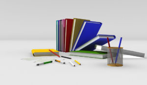 Free 3D Books and Pencils Model