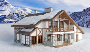 Free 3D Chalet House Model
