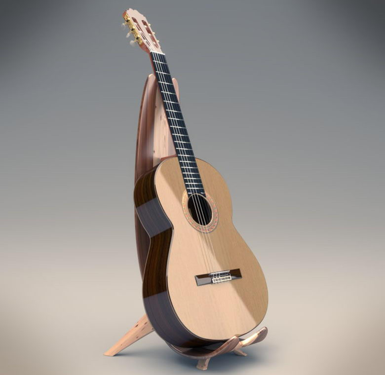Free 3D Classic Guitar