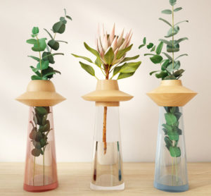 Free 3D Flowers with Glass Vase Model