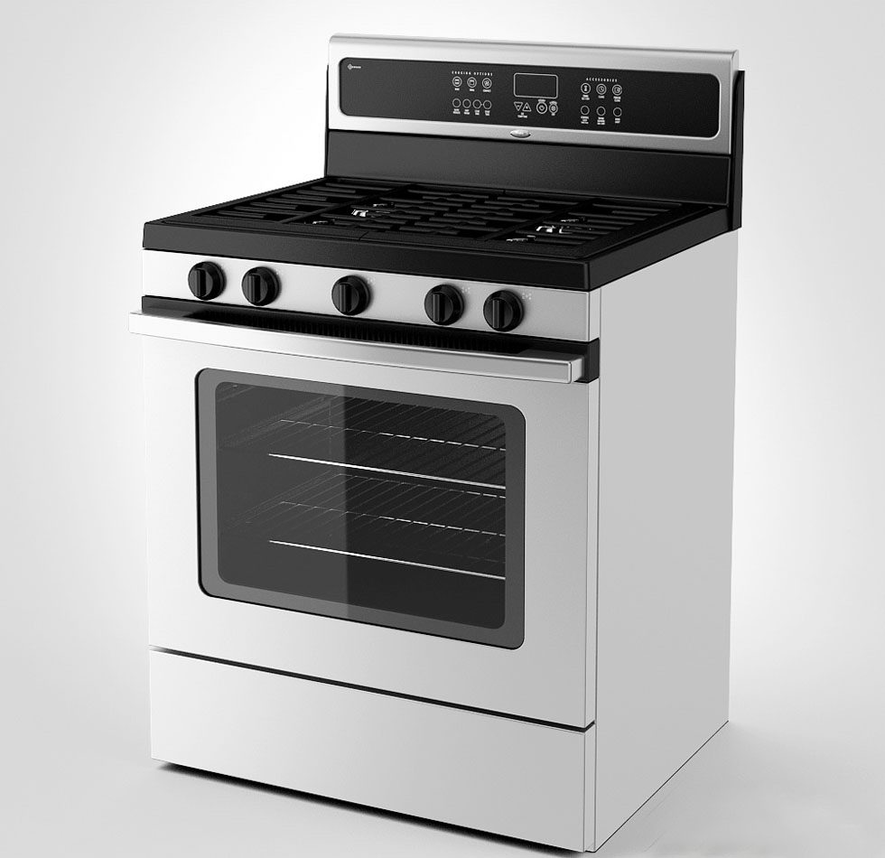 Free 3D Gas Cooker Model