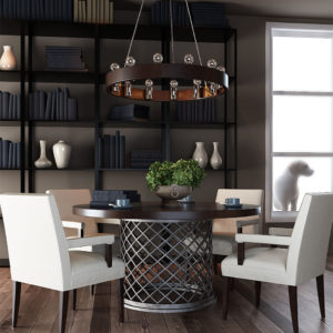 Free 3D Living Room Table Scene