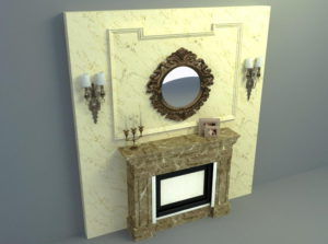 Free 3D Marble Fireplace