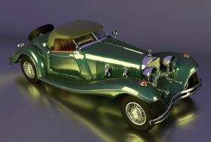 Free 3D Mercedes Roadster Model