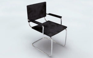 Free 3D Office Visitors Chair Model