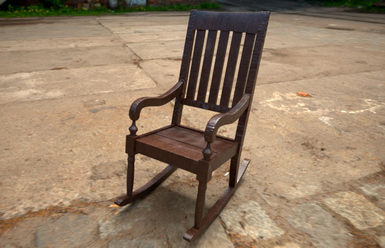 Free 3D Old Rocking Chair