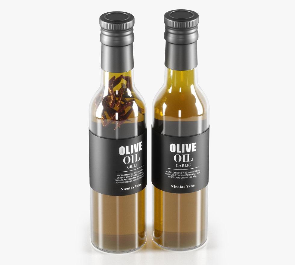 Free 3D Olive Oil Bottle