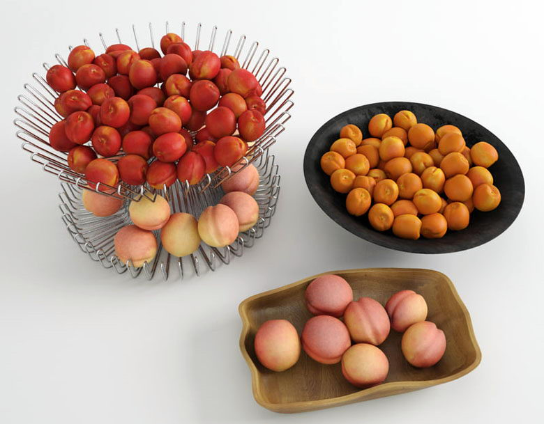 Free 3D Peaches and Nectarines