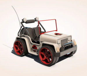 Free 3D RC Jeep Toy Model