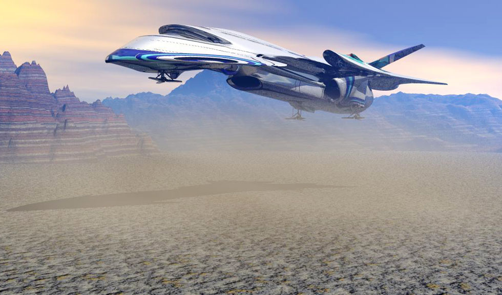 Free 3D Sci-fi Spaceship Model - Free C4D Models