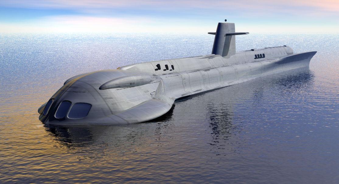 Free 3D Sci-fi Submarine Model - Free C4D Models