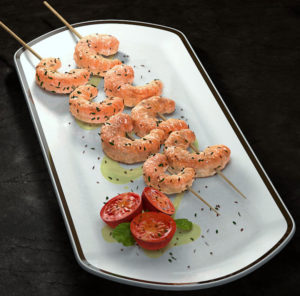 Free 3D Sushi on Plate Model
