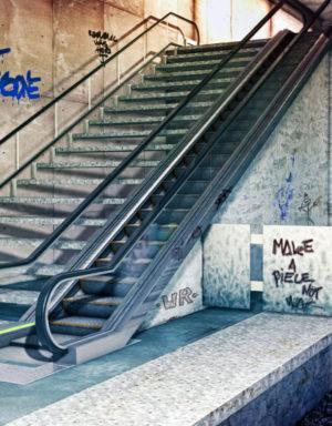 Free 3D Underground Metro Station Scene