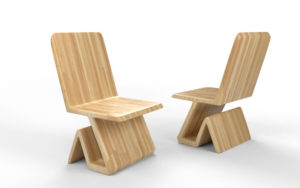 Free 3D Wooden Chair Design